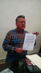 Documento oficial de la renuncia.